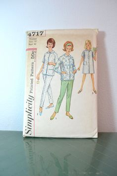 1960s Vintage Plus Size Simplicity Pattern by TabbysVintageShop, $10.00