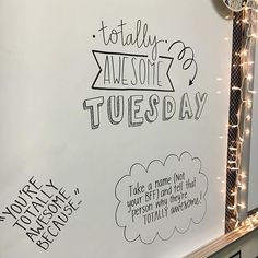 🖍 I put sticky notes on mine; the kids will put them on each student's desk! mrslitzsclassroom 💙 iteachfifth iteachtoo whiteboarda is part of Whiteboard messages - Classroom Whiteboard, Story Starter, Classroom Quotes, Classroom Ideas, Future Classroom, School Classroom, Morning Board, Morning Activities, Daily Writing Prompts