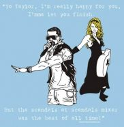 A scandals mixer for Alpha Delta Pi is such a clever idea! Love this design with Taylor and Kanye lol