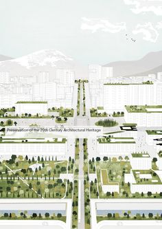 Image 4 of 21 from gallery of Tirana 2030: Watch How Nature and Urbanism Will Co-Exist in the Albanian Capital. Green space within the city centre will be tripled. Image Courtesy of Attu Studio