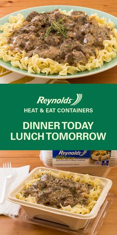 Pack up leftovers from this Slow Cooker Beef Stroganoff recipe in a Reynolds… Slow Cooker Beef Stroganoff Recipe, Crock Pot Slow Cooker, Crock Pot Cooking, Slow Cooker Recipes, Crockpot Recipes, Cooking Recipes, Healthy Recipes, Food For Thought, Casserole Recipes