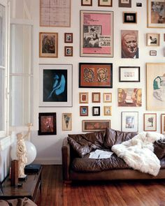 Walls with a lot of paintings or photographs just makes the home feel more personal and cozy. A great way to decorate your home if your walls are boring and cold. Make it like a museum of your life.