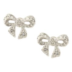 Ted Baker Pepe Crystal Bow Stud Earrings ($60) ❤ liked on Polyvore featuring jewelry, earrings, accessories, brincos, jewels, jewellery wbearrings, womenswear, bullet jewelry, crystal stud earrings and bow jewelry