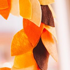 diy fall felt wreath Felt Wreath, Wreaths, Make It Yourself, Fall, Diy, Instagram, Autumn, Door Wreaths, Fall Season