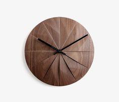 Walnut Wall Mounted Clock