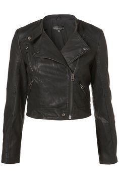 Topshop Petite PU Biker Jacket
