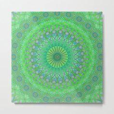 Green Web Mandala Metal Print by David Zydd #MandalaMetalPrint #BestMetalPrints #HomeDecorating #Metal #Meditative #Mandalas #Decor #Apartment #MandalaHomeDecor (tags: design, mandala decoration, society6, wall art, sacred geometry, gift, decor, mandala print, designer, geometric, mandala, home decoration, bohemian wall decoration, mandala wall decor, metal print, mandala pattern, mandala art, artwork, bohemian decor) Mandala Artwork, Mandala Print, Mandala Pattern, Geometric Mandala, Art Prints For Sale, Framed Art Prints, Canvas Prints, Bohemian Wall Decor, Bohemian Art