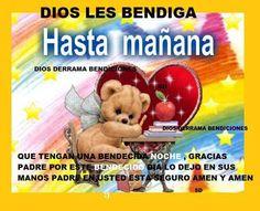Dios les Bendiga, Hasta mañana: Que tengan una bendecida noche #bendiciones #dios #jesus #cristo #dios_te_bendiga