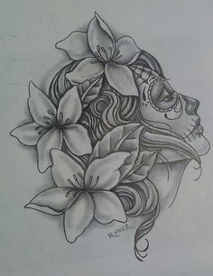 Drawing I did Simple Flower Drawing, Simple Flowers, Elvish Tattoo, I Tattoo, Chicano, Crane, Drawing Projects, Future Tattoos, Michelle Obama