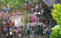 Whether it's belly-dancers or a blues band, the Santa Fe Plaza Bandstand is alive with movement and free music. (Photo Credit: Santa Fe Bandstand, Outside In Productions)