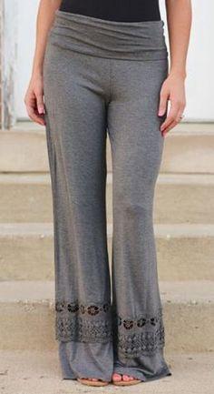 Love Love LOVE these Grey Palazzo Pants!
