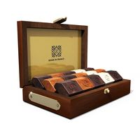Deluxe Mahogany Chocolate Box (15 pieces) < Artisan French Chocolates, perfect romantic gift for him in this mahogany box!