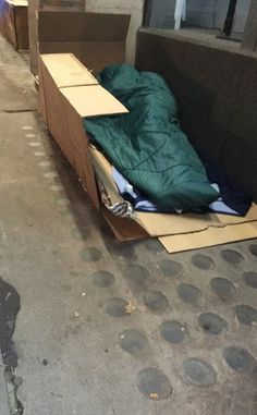 Rough sleepers left with 'nowhere to go' after council 'hosed down' street | The Big Issue Stoop So Low, Anti Social Behaviour, People Sleeping, Homeless People, Left Alone, Sleeping Bag, Street, Big