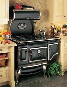 Inspiration til gammeldags køkken med Gas