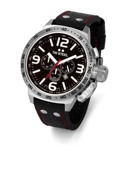 This gents watch features a smart stainless steel case and black dial and is fitted with a black leather strap. Chronograph Date Latest Watches, Big Watches, Gents Watches, Best Watches For Men, Casual Watches, Sport Watches, Luxury Watches, Cool Watches, Watches Online