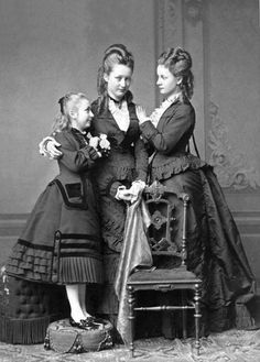 Princesses Feodore , Augusta Victoria (later Empress of Germany), and Victoria of Schleswig-Holstein