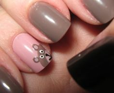 Cute Nails for Vanessa Panda Bear Nails, Monkey Nails, Hot Nails, Hair And Nails, Shellac Nails, Nail Polish, Animal Nail Art, Nails Only, Cute Nail Designs