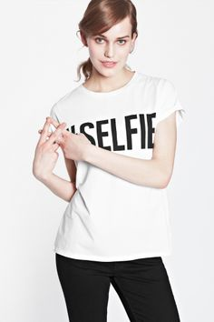 """#Selfie"" T-shirt by French Connection"