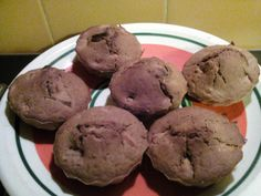 Muffin al cacao e mele.