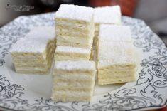 Prajitura Alba ca Zapada Cornbread, Feta, Deserts, Dairy, Cheese, Cookies, Cake, Sweet, Ethnic Recipes
