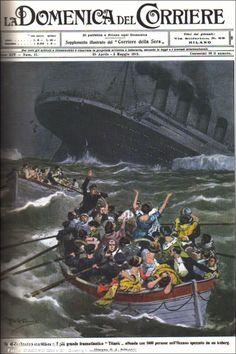 Il naufragio del Titanic su La Domenica del Corriere, 1912