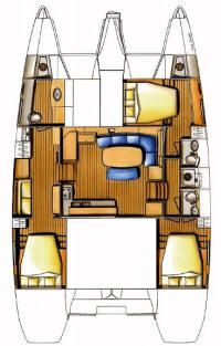 3 cabin catamaran layout