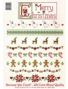 Cherished Teddies bk 101 Cristmas Borders and Samplers Cross Stitch Pattern ePattern - Designs by Gloria and Pat