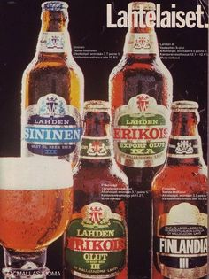Lahden Nostalgia, Bar Stuff, Good Old Times, Old Ads, Bar Drinks, Tolkien, Visual Identity, Vintage Ads, Finland