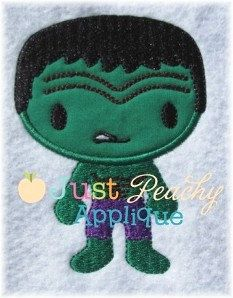 Hulk Full Body Machine Embroidery Applique Design Plus 1 Free Design of Your Choice Buy 1, Get 1 Free NEW Instant Downloads