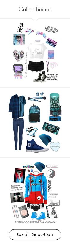 """""""Color themes"""" by literaldisaster ❤ liked on Polyvore featuring Hartmann, Hot Topic, Accessorize, Forever 21, Ghibli, Converse, Topshop, art, Camouflage Couture and Bling Jewelry"""