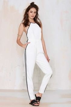Finders Keepers Check the Rhyme Cutaway Jumpsuit -  | Rompers + Jumpsuits