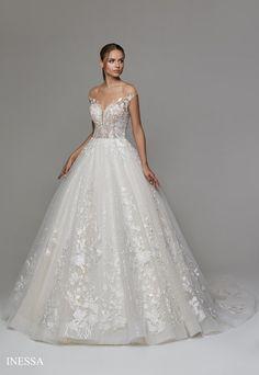 Inessa Bodice, Neckline, Lace Ball Gowns, Bridal Suite, Chapel Train, Lace Applique, Formal Dresses, Wedding Dresses, Tulle