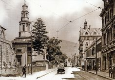 An early view of Wale Street showing, at left, St… Old Pictures, Old Photos, Vintage Photos, Cities In Africa, Travel Brochure, Most Beautiful Cities, Back In Time, Historical Pictures, African History