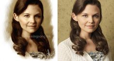 Digital portrait of Ginnifer Goodwin from photograph, made in Corel Painter