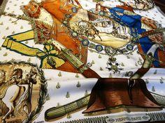 Authentic Vintage Hermes Silk Jacquard Scarf Napoleon – Carre de Paris