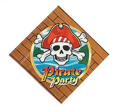 Pirate Birthday Party Napkins 16 Ct Luncheon Skull & Crossbones #Unbranded #AnyOccasion