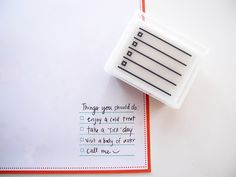 "A stamp with check boxes and lines? you mean like a ""to do"" list? Sign me up!"
