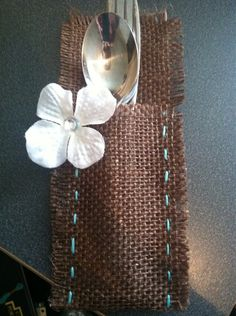 Rustic Silverware Holders For Wedding Or Party