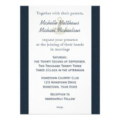 Blue Burlap Ship And Anchor Nautical Wedding Personalized Invitations. $2.10