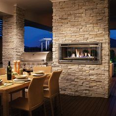 Rinnai Outdoor Gas Fireplace. Rinnai Impression. Outdoor Living Design Inspiration. BBQ and Gas Fire. www.rinnai.co.nz