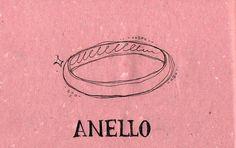 Italian Language ~ Anello (Ring)