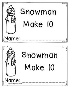 I hope you enjoy this FREEBIE using ten frames!  Students count on to determine how many more snowballs are needed to make 10.  This booklet is aligned to Common Core Standards: CC.A.3, CC.B.4, CC.B.4a, CC.B.4b, K.OA.1, K.OA.2, K.OA.3, K.OA.4, K.OA.5, 1.OA.6,  and 1.OA.8.