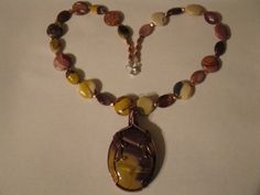 Mookaite & copper necklace by las81101 on Etsy