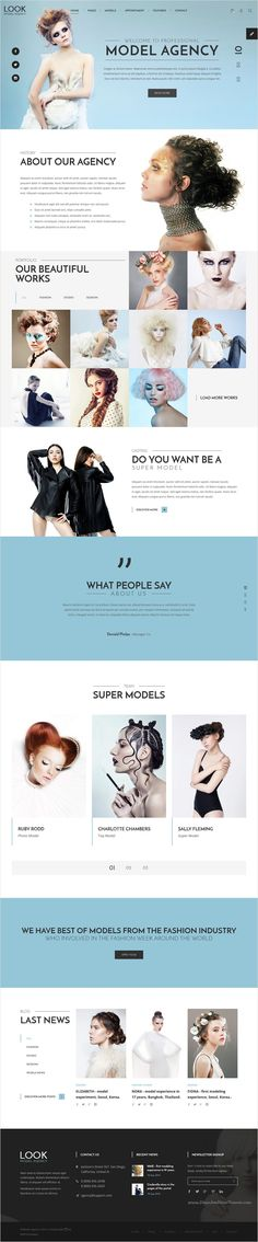 LOOK Model Agency is a wonderful #Bootstrap HTML template, suitable for any #fashion model #agency or creative photography portfolio website download now➩ https://themeforest.net/item/look-model-agency-html-template-with-visual-page-builder/18554263?ref=Datasata