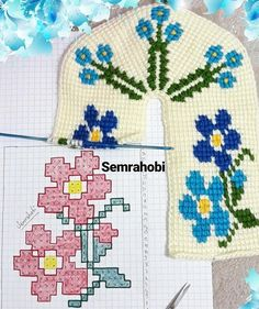 Knitted Slippers, Tunisian Crochet, Hand Warmers, Kids Rugs, Stitch, Cross Stitch, Fabric Patterns, Fabrics, Needlepoint