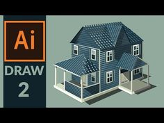 Drawing Production level vector House in adobe illustrator - Step 02- Drawing walls - YouTube