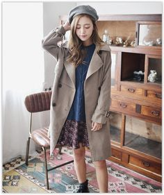 GOROKE - Flap Vintage Trench Coat