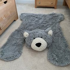 Ashley Zappone added a photo of their purchase Crochet Bows, Crochet Fabric, Crochet Patterns, Animal Rug, Bear Rug, Knit Rug, Childrens Rugs, Faux Fur Rug, Baby Boy Room Decor