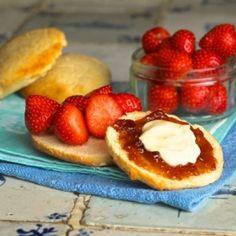 Lemonade scones doused in lashings of jam and cream - the perfect weekend treat.