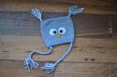 Items similar to Owl hat with ties on Etsy Owl Hat, Ties, My Etsy Shop, Christmas Ornaments, Trending Outfits, My Love, Unique Jewelry, Holiday Decor, Handmade Gifts